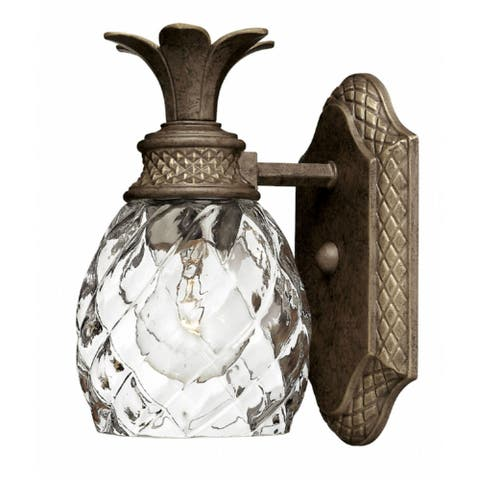 Hinkley Plantation 1-Light Sconce in Pearl Bronze