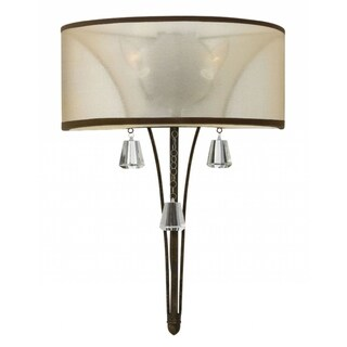 Fredrick Ramond Mime 2-Light Sconce in French Bronze