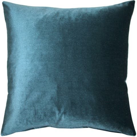 Pillow Decor - Corona Teal Velvet Pillow 19x19