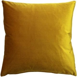 Pillow Decor - Corona Deep Yellow Velvet Pillow 19x19