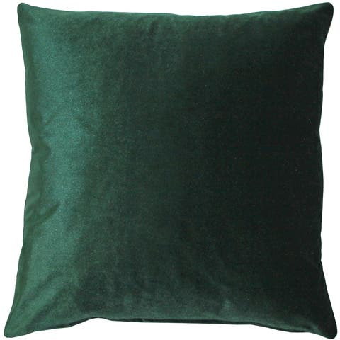 Pillow Decor - Corona Hunter Green Velvet Pillow 19x19