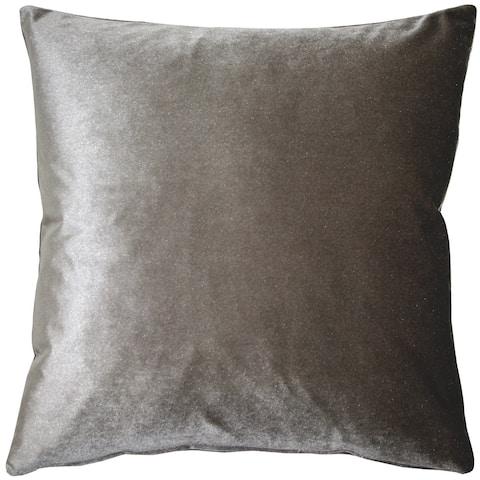 Pillow Decor - Corona Silver Velvet Pillow 19x19