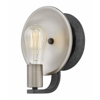 Hinkley Boyer 1-Light Sconce in Aged Zinc