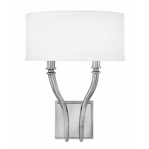 Hinkley Surrey 2-Light Sconce in Polished Nickel
