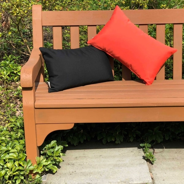 Shop Pillow Decor Sunbrella Melon 12x20 Outdoor Pillow Free