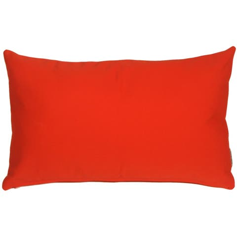Pillow Decor - Sunbrella Logo Red 12x20 Outdoor Pillow