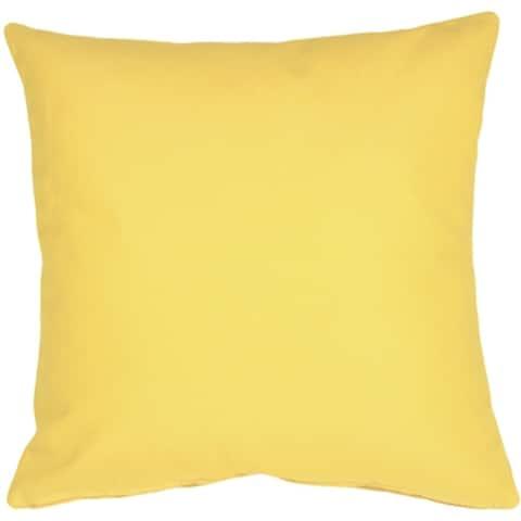 Pillow Decor - Sunbrella Buttercup Yellow 20x20 Outdoor Pillow