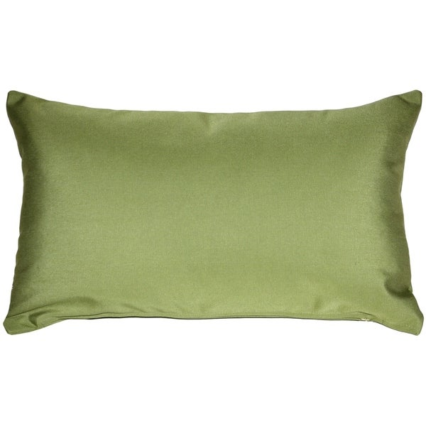 Shop Pillow Decor Sunbrella Peridot Green 12x20 Outdoor Pillow