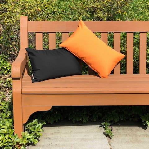 Pillow Decor - Sunbrella Tangerine Orange 12x20 Outdoor Pillow