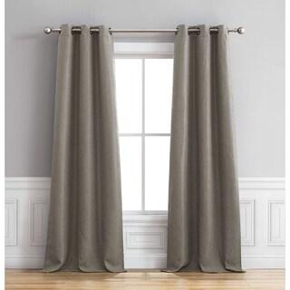 Bella Luna Henley Room Darkening 96 Inch Grommet Curtain Panel Pair