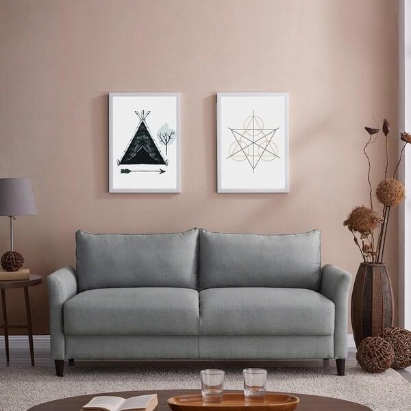 Shop Handy Living Denver Grey Linen Storage Sofa