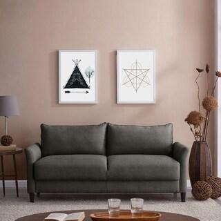 Handy Living Denver Charcoal Grey Linen Storage Sofa