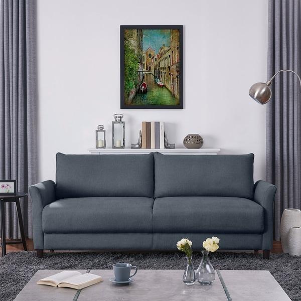 Shop Handy Living Denver Medium Blue Velvet Sofa - On Sale ...
