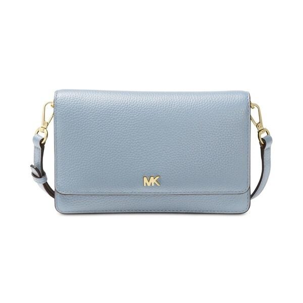 2a1e2dfe6b4 Shop MICHAEL Michael Kors Phone Wallet Crossbody Pale Blue - Free Shipping  Today - Overstock.com - 22612454