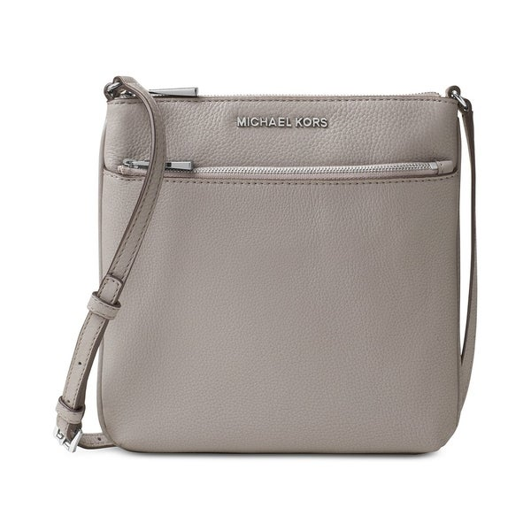 839b792822222e Shop MICHAEL Michael Kors Riley Small Flat Crossbody Pearl Grey - Free  Shipping Today - Overstock - 22612676
