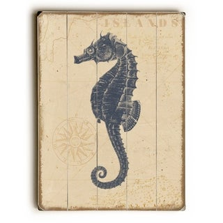 Coastal Seahorse -   Planked Wood Wall Decor by Beth Albert