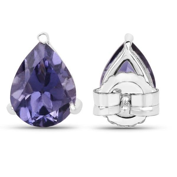 Genuine Iolite Gemstone Earring
