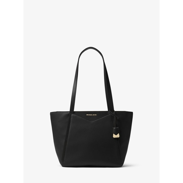 c35a00bc8c18 Shop MICHAEL Michael Kors Whitney Small Pebbled Leather Tote Black ...