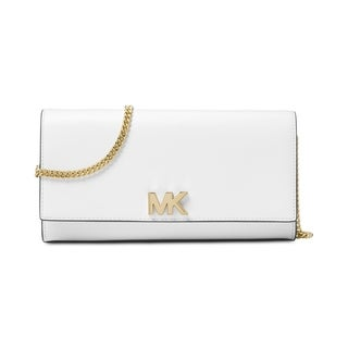 MICHAEL Michael Kors Mott East-West Clutch Optic White