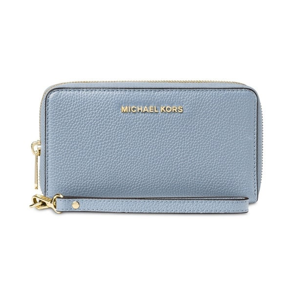 c3548ca9cc204c MICHAEL Michael Kors Mercer Large Flat Multi Function Phone Case Pale Blue