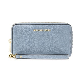 MICHAEL Michael Kors Mercer Large Flat Multi Function Phone Case Pale Blue