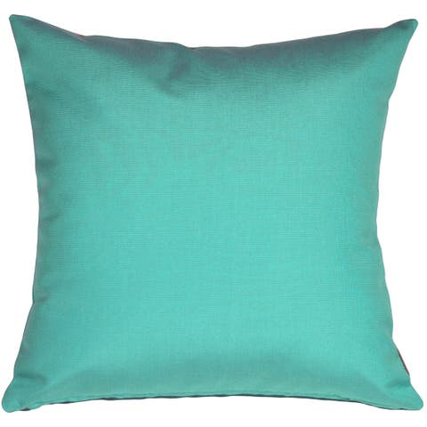 Pillow Décor - Sunbrella Aruba Turquoise Blue 20x20 Outdoor Pillow