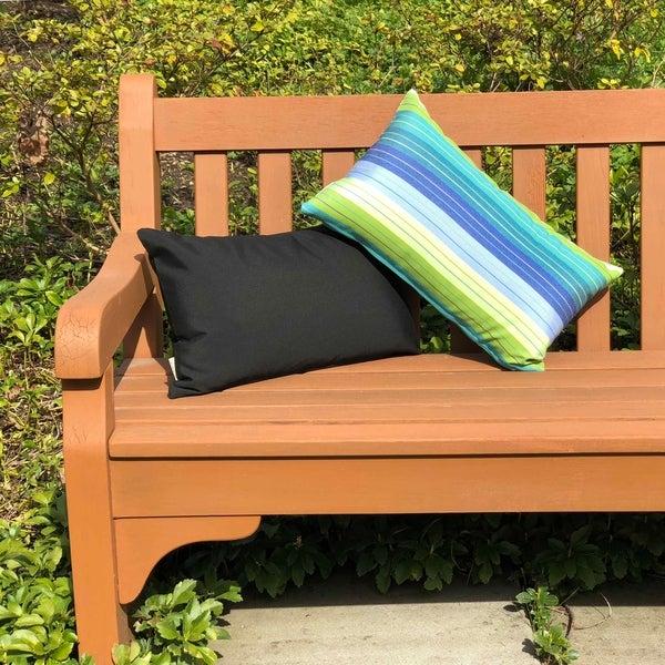 Shop Pillow Decor Sunbrella Seville Seaside 12x20 Outdoor Pillow