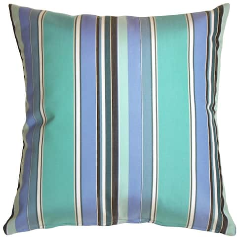 Pillow Decor - Sunbrella Dolce Oasis Stripes 20x20 Outdoor Pillow