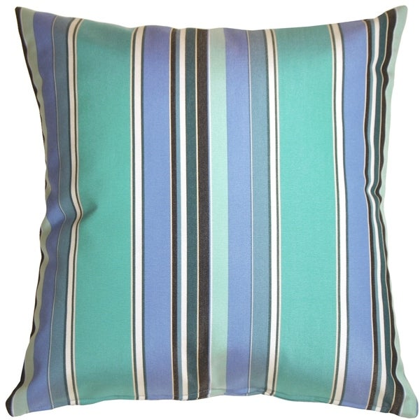 Shop Pillow Decor Sunbrella Dolce Oasis Stripes 20x20 Outdoor