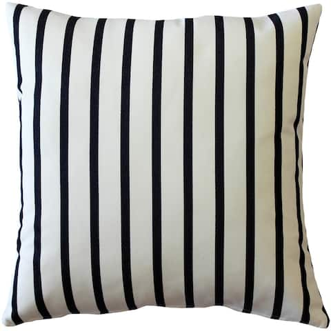 Pillow Decor - Sunbrella Lido Indigo Stripes 20x20 Outdoor Pillow