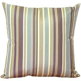 Pillow Décor - Sunbrella Brannon Whisper Stripes 20x20 Outdoor Pillow
