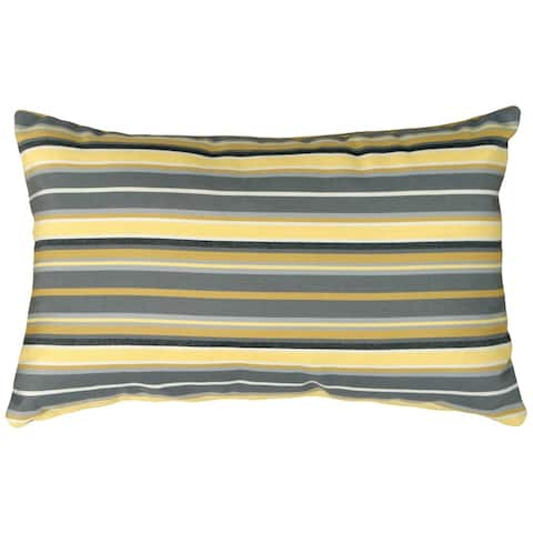 Pillow Decor - Sunbrella Foster Metallic 12x20 Outdoor Pillow