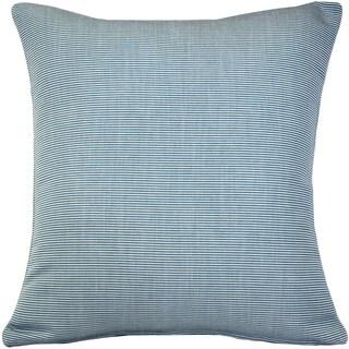Pillow Décor - Sunbrella Rib White-Sky Blue Outdoor Pillow 20x20