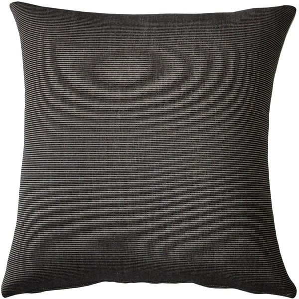 Shop Pillow Decor Sunbrella Rib Taupe Black Outdoor Pillow 20x20