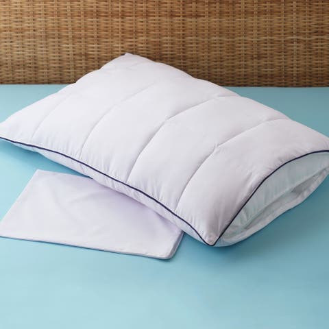 Sleep ProtectionPremiumAllergy Free 2-in-1 Pillow Enhancer and Travel Pillow - White