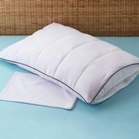 Sleep ProtectionPremiumAllergy Free 2-in-1 Pillow Enhancer and Travel Pillow - White