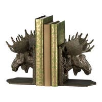 Cyan Design Bronze-finished Iron Moose Head Bookends (Set of 2)