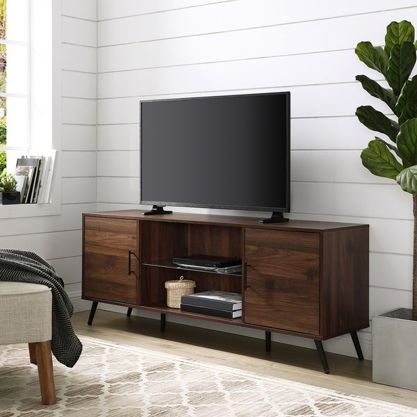 Carson Carrington Esbo Mid-century Modern 60-inch 2-door TV Console - 60 x 16 x 24h