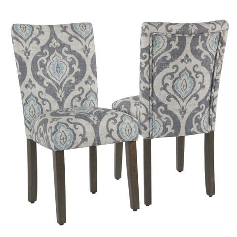 HomePop Classic Parsons Dining Chair - Suri Blue Slate- Set of 2