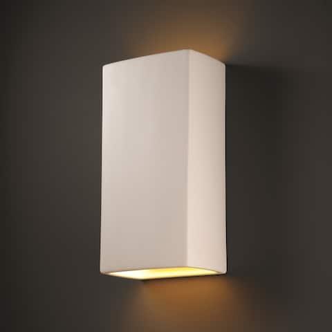 Strick & Bolton Wes Multi-directional Rectanglular 2-light Ceramic Sconce