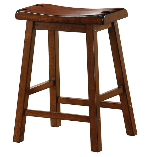 Carbon Loft Wallis Brown Walnut Barstool. Opens flyout.