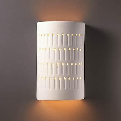 Strick & Bolton Wes 1-light Multi-directional Cactus Cylinder Ceramic Sconce