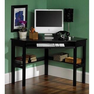 Havenside Home Horseshoe Black Corner Desk