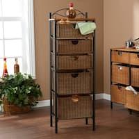 Harper Blvd Wicker 5-drawer Storage Unit