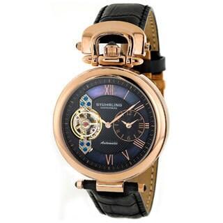 Stuhrling Original Emperor Men's Open Heart Dual Time Watch