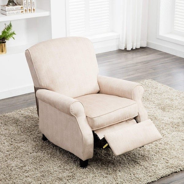 Shop Bonzy Recliner Chair With Roll Arm Push Back Chair