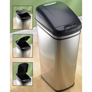 Furniture of America Infrared Touchless 11-gallon Steel Trash Can