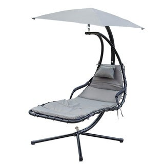 NatureFun Hanging Outdoor Chaise Chair, Porch Swing Hammock Chair