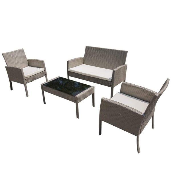 Piece Wicker Patio Furniture Set
