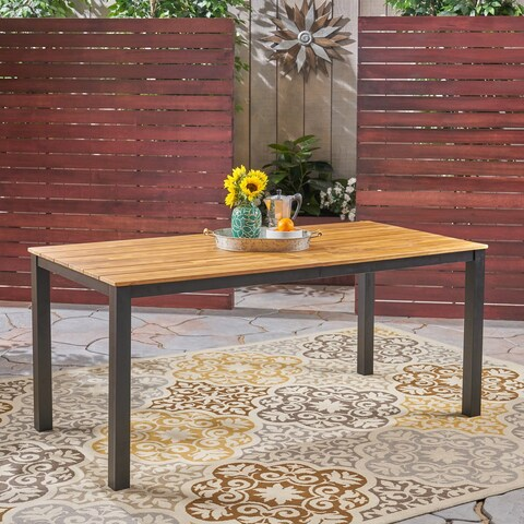 """Lisa Outdoor 71"""" Acacia Wood Dining Table by Christopher Knight Home"""